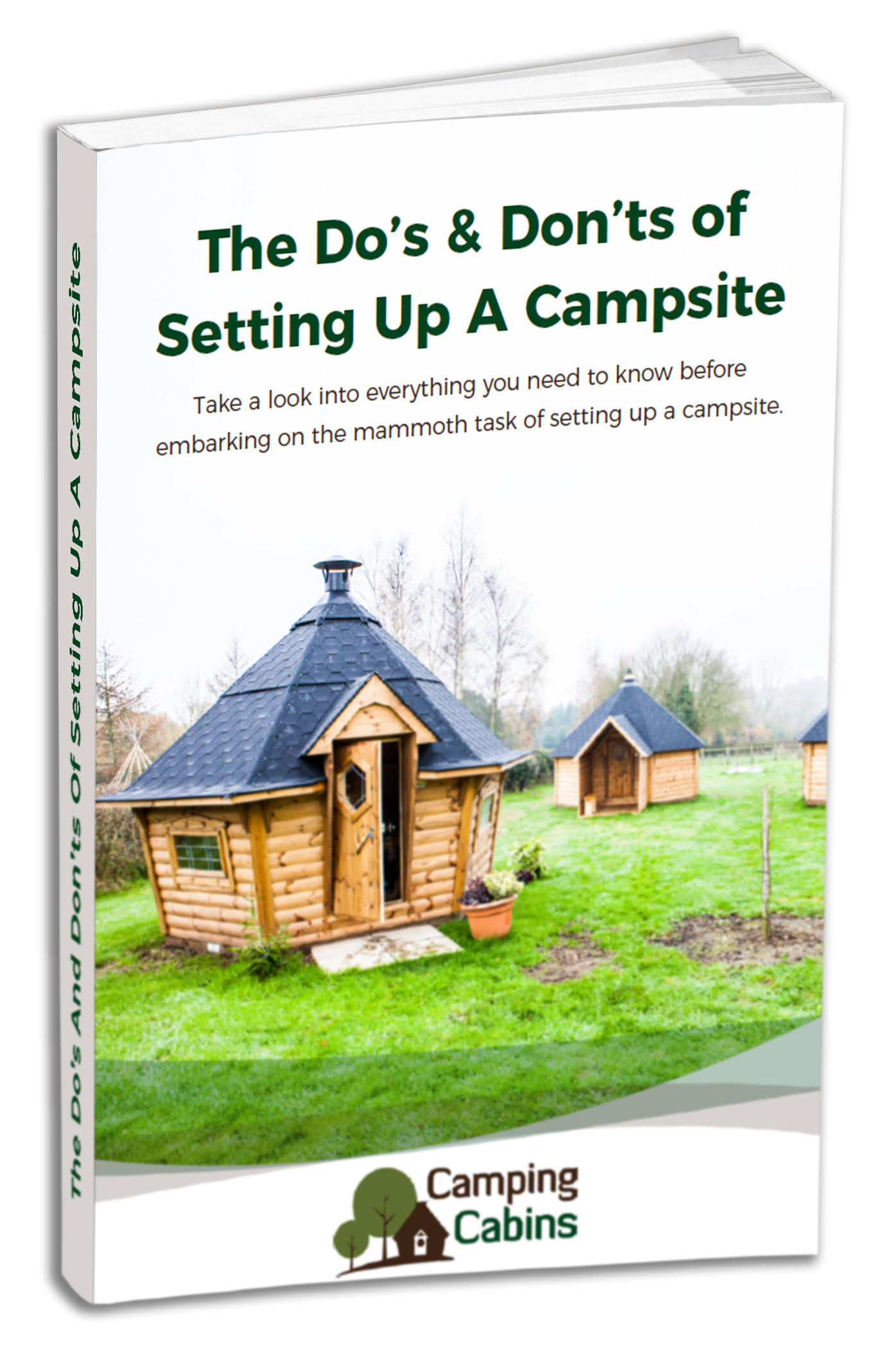 Camping Cabins Guide Cover Mock UP 1